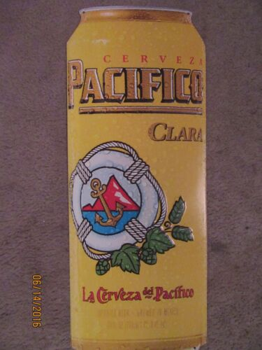 CERVEZA PACIFICO CLARA CAN SHAPED BEER TIN SIGN (NEW)