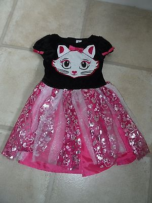 Baby Girls Halloween Dress Up / Party pink + cat face age 6-12 months - NEW - Baby Cat Face Halloween
