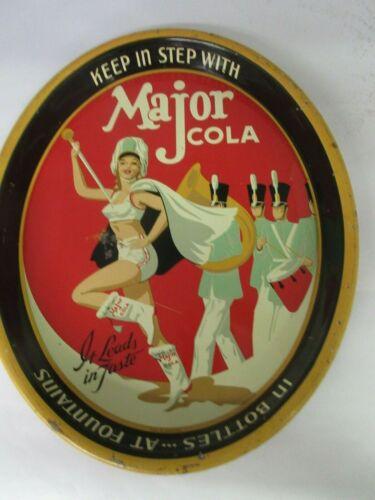 AUTHENTIC MAJOR COLA SODA VINTAGE   ADVERTISING SERVING  TRAY 810-O