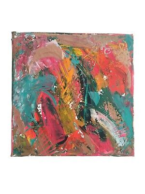 ORIGINAL ABSTRACT PAINTING by Laura Hall, Acrylic on Canvas 20 x 20 cms