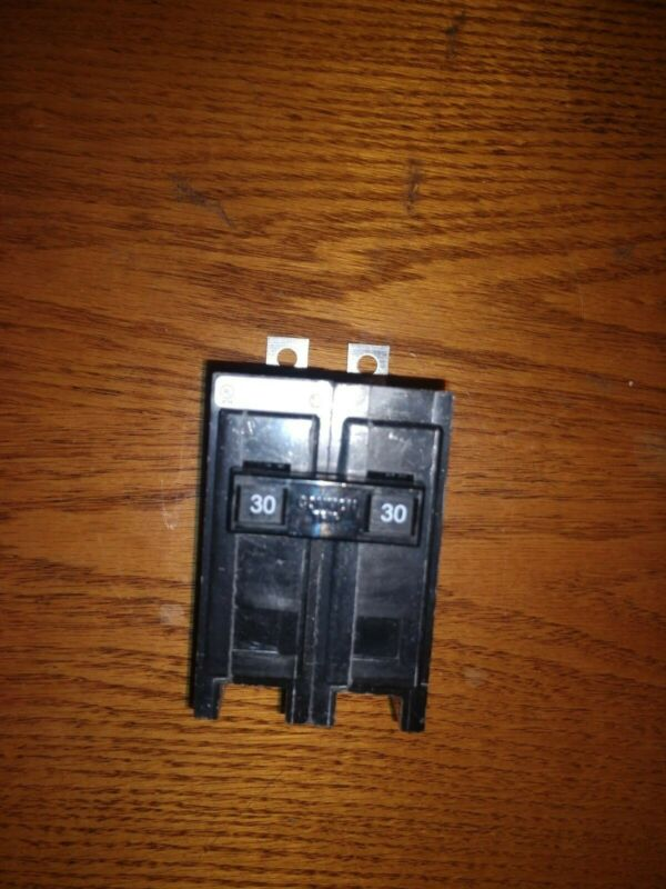 TWO QBHW2030 EATON CUTLER HAMMER - 2 Pole 30 Amp circuit breakers- lot of 2