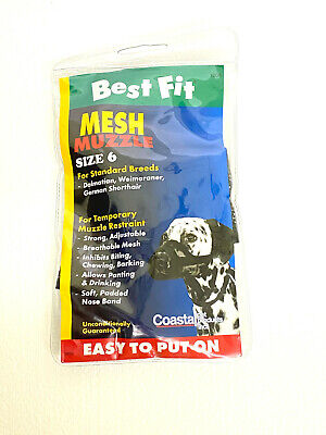 Mesh Dog Muzzle Size 6  60-80 lbs Dogs Best Fit Mesh Dog Muzzle Best Fit Dog Muzzle