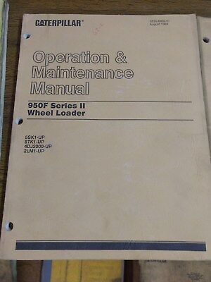 Caterpillar Cat 950f Series Ii Wheel Loader Operation Maintenance Manual