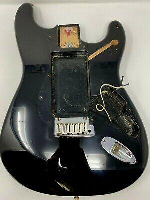 Vintage Fender American Stratocaster Black Body+ Hardware USA 1996