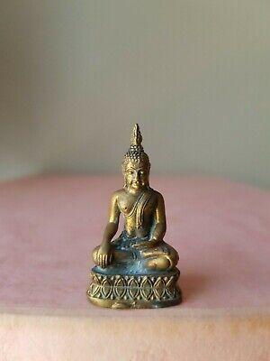 Earth Witnessing Buddha ~ 3 cm Long... Brass mini statue