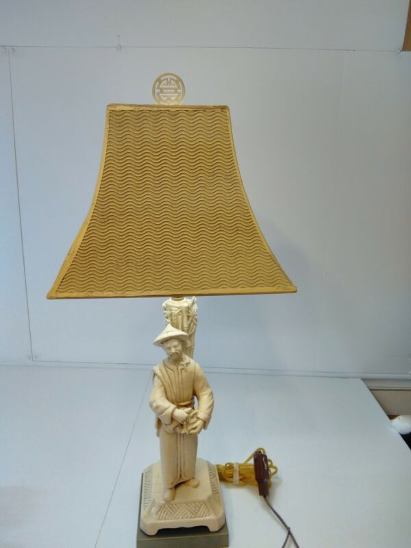 """29"""" Chinese Figural Lamp"""