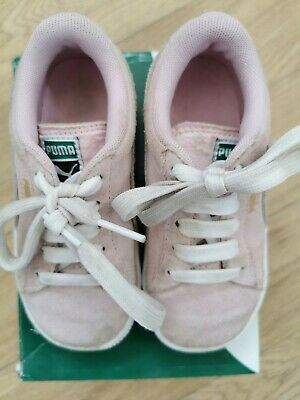 Puma Suede Pink Infant Trainers UK 8