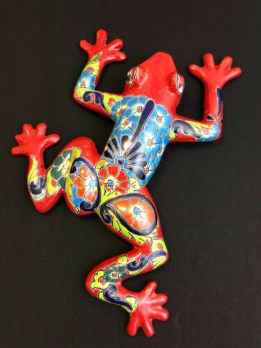 "Large 23"" Wall Frog - Mexico Talavera Pottery - Nicest Design I"