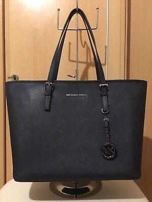 Michael Kors Jet Set Travel Saffiano Leather Top-Zip Tote Bag RRP £270 Gift