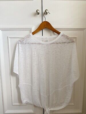 Lululemon white tee with tie front US size 8 (UK size 12) - excellent condition