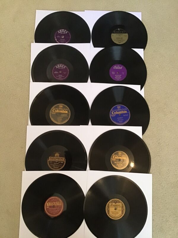 78rpm Records Lot Of 10 - Various Labels - Russian, German