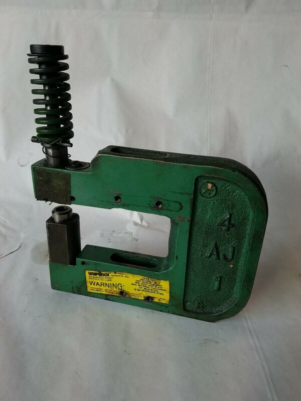 UNIPUNCH 4 AJ 1 AJ SERIES METAL STAMPING PUNCH WITH .4375 ROUND PUNCH AND DIE RP