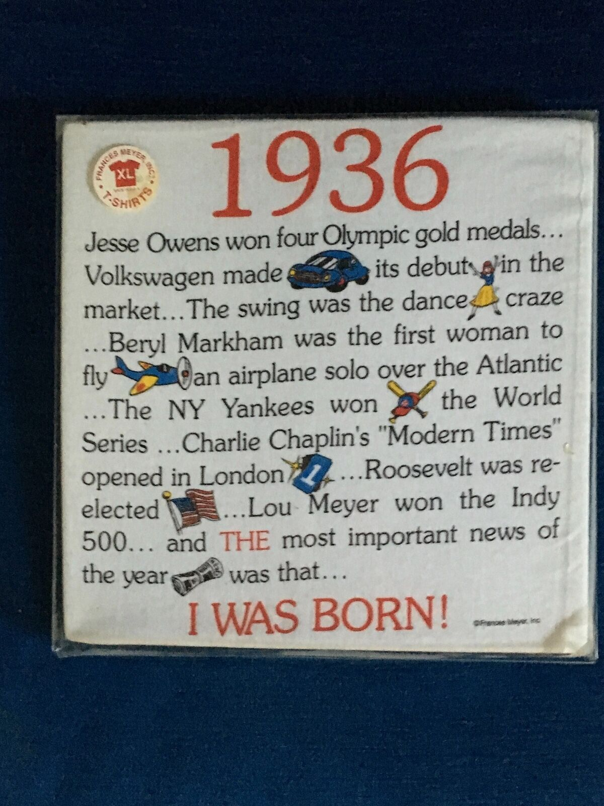 84th FUN Birthday Gift Tee Shirt for People born in 1936-New