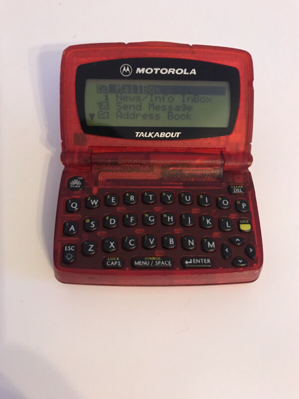Motorola Talkabout Pager Red, Text Pagewriter Beeper. Pre-Owned, WORKS!!