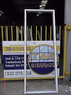 Aluminium Door Entry 2420H x 900W (Item 2156/4) Pearl White
