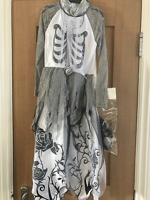 Brand New Girls Halloween Dead Bride Fancy Dress Costume Age 7-8 Years By George (Dead Bride Costume For Girls)