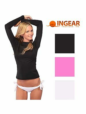 Ingear Womens Long Sleeve Rash Guard Shirt