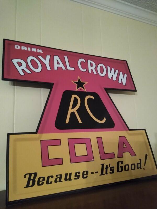 "RC Cola Royal Crown Cola Aluminum Sign 23"""