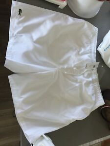 Lacoste white shorts men