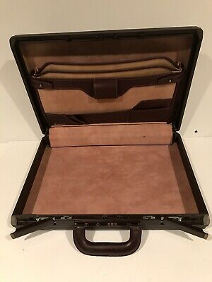 "Vintage Samsonite Classic Laureate LE 4"" Leather Briefcase 1989"