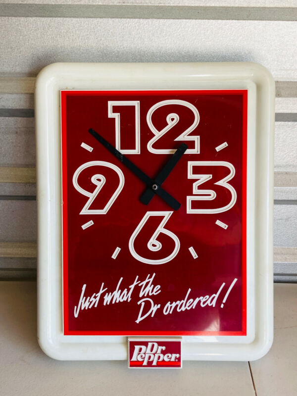 VTG Dr. Pepper Just What The Doctor Ordered! Advertising Clock WORKS