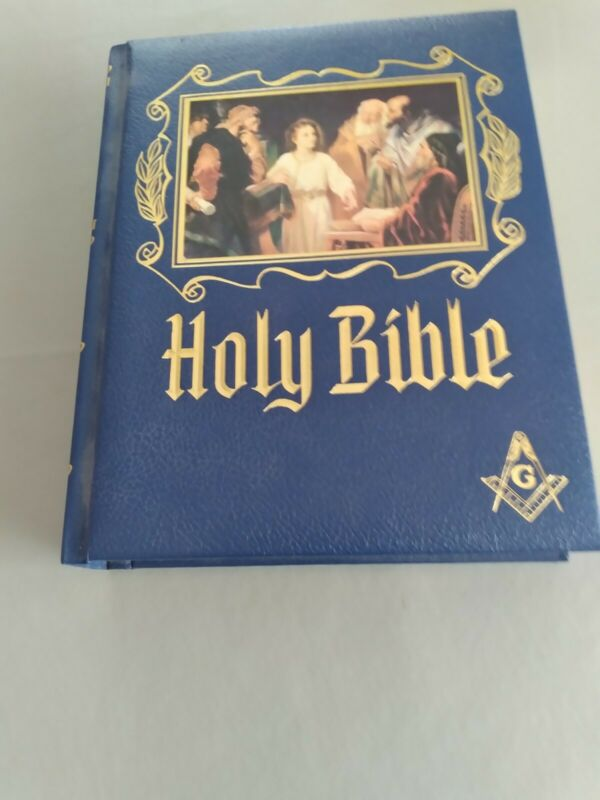 """1988 MASONIC HOLY BIBLE """"MASTER REFERENCE"""" RED LETTER  EDITION HEIRLOOM"""