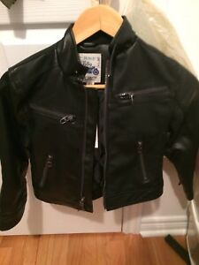 Boys leather jacket sz 5