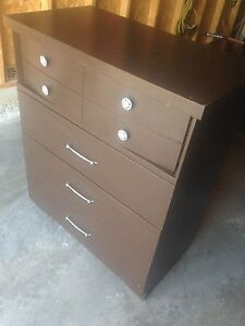 Solid wood 4-Drawer DRESSER, very good shape, nice for $35