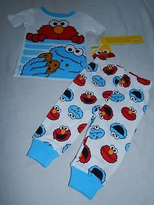 NEW Cookie Monster Elmo Sesame Street Figures Pajamas Baby Outfit 9 12 24 Months