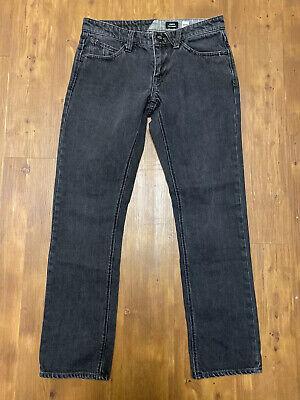 Volcom Vorta Men's Black Slim Straight Jeans Size 29 X 30 Volcom Black Jeans