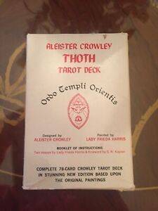 Vintage Aleister Crowley's Thoth Tarot Cards Deck