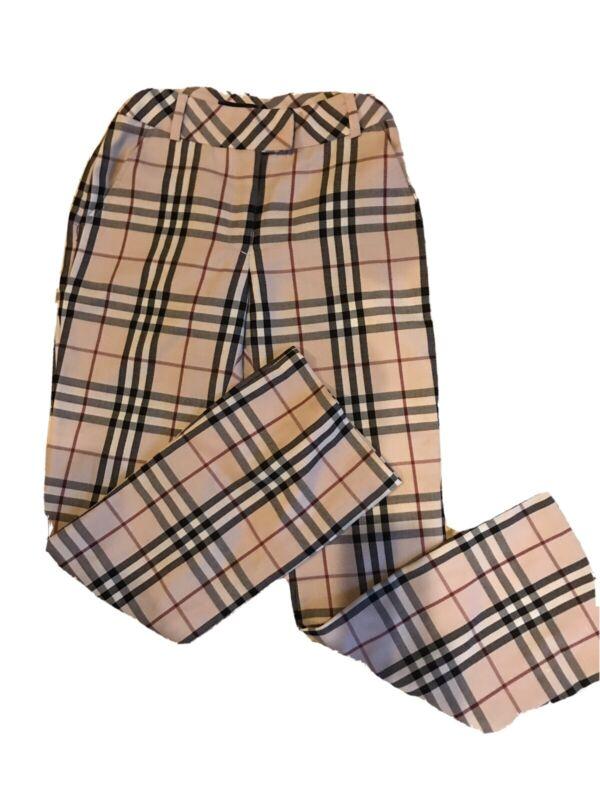 Burberry NOVA CHECK Wool Blend   Pants  ( GIRL 12 or XXS  )