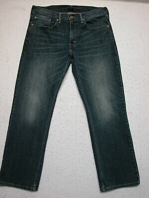 Levi's 559 34x32 Men's Dark Wash Jeans Relaxed Straight ( Measure 35 x 31 )EUC!!