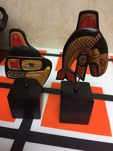 Small wooden native carvings