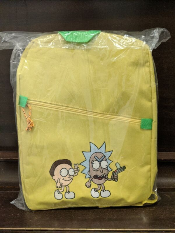 Authentic Rick And Morty Yellow Backpack - Rickmobile Limited Exclusive