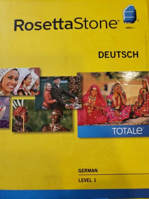 Rosetta Stone Deutsch Level 1 Version 4 German Used
