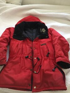 Manteau unisexe rouge Kanuck Taille 3 -8/10 ans -