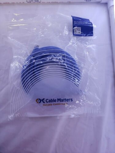 Cable Matters Cat6 Snagless Ethernet Patch Cable in Blue 30