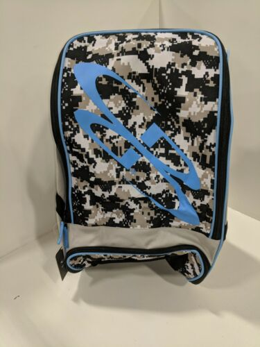 Boombah Baseball Softball Bat Bag Backpack (Light Blue & Camo)