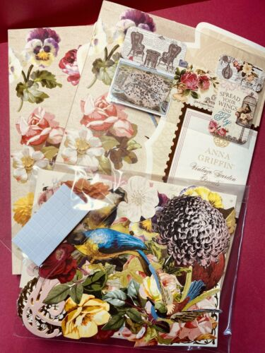 Anna Griffin Vintage Garden Latest 2021 Diecuts+Authentique Brand Ephemera Minis
