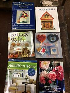 Royal doulton doll house home decorating hardcover books.