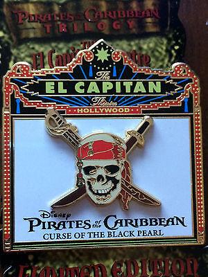 DSF El Capitan Marquee Pirates Caribbean Curse of the Black Pearl Logo Pin