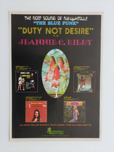 Org 1970 Jeannie C. Riley Large Poster Style Promo Ad ~Nice!