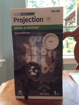 Halloween Light Show Setup (Halloween Spooky Eyes LED Lightshow Projection Whirl-a-Motion • Easy)