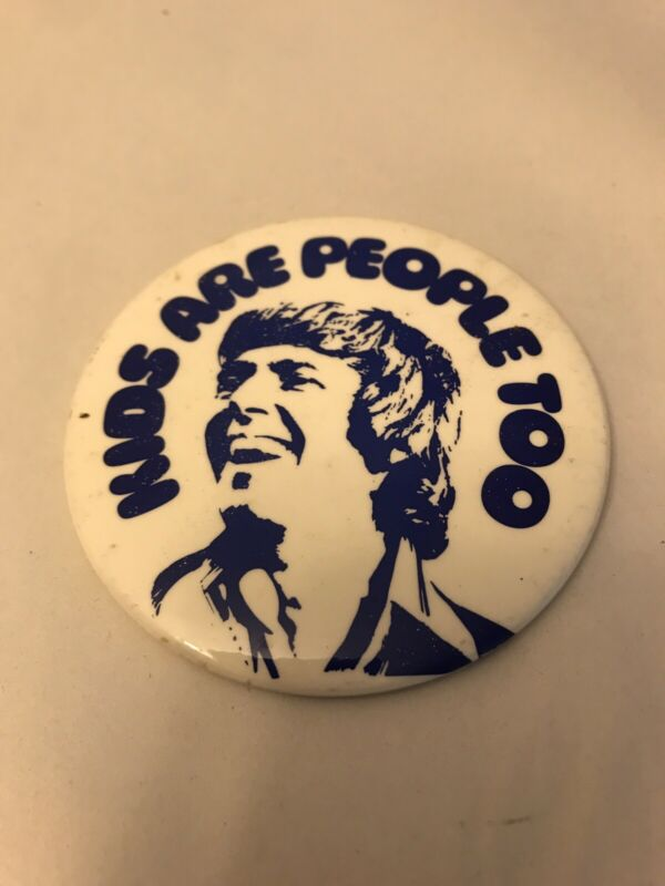 Vtg Kids are people too pinback button pin
