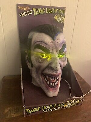 NEW! Life Size ANIMATED HEAD TALKING Vampire Count Dracula Halloween Prop WORKS!