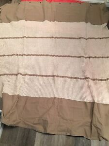 WAFFLE KNIT SHOWER CURTAIN-NEW CONDITION
