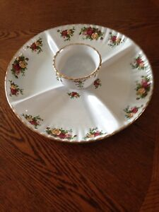 Royal Albert chip and dip set