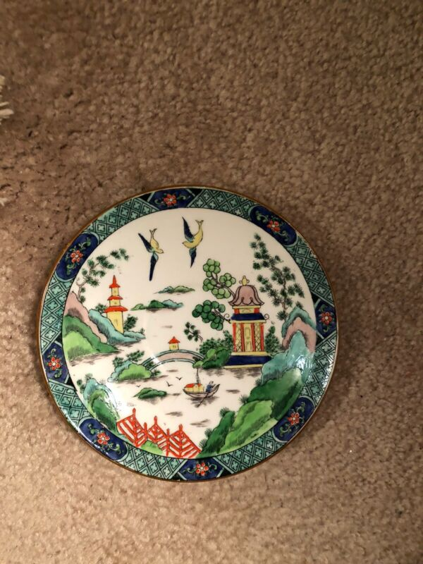 Tiffany Crown Staffordshire Ye Old Willow China-Luncheon plate-Very Rare