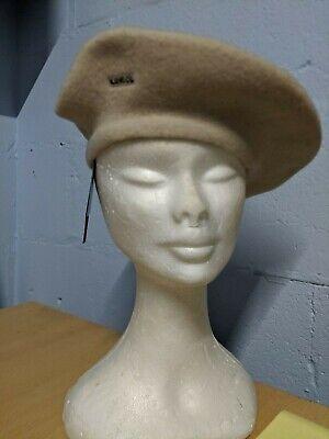 Vintage Kangol Modelaine Mod Beret 100% Wool, BNWT one size. Cream/Beige